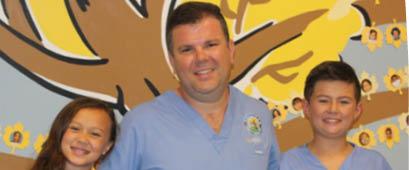 Dr. Ryan Galligan with children