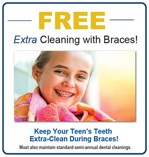 Free Cleaning with Braces