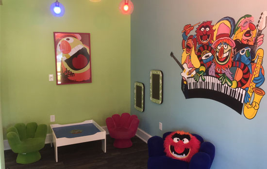 Kid-friendly dental office