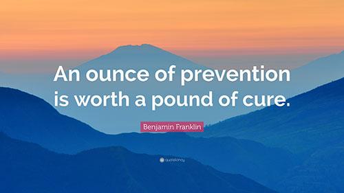 Prevention quote